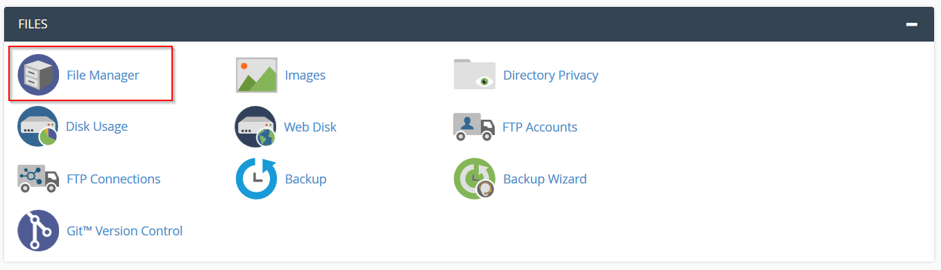 مدیریت فایل در سی پنل