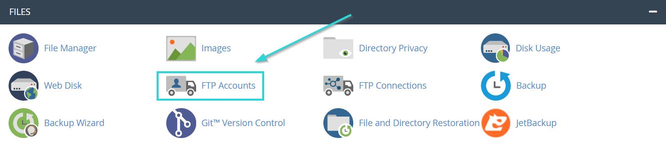 حذف اکانت های FTP