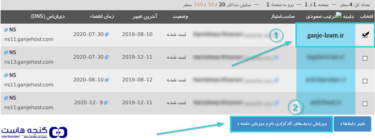 ست کردن DNS هاست روی دامنه در سایت ایرنیک
