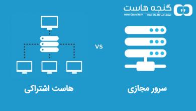 تصویر از تفاوت هاست اشتراکی و سرور مجازی (VPS)