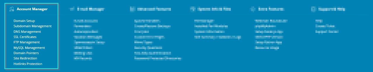 مدیریت حساب کاربری در دایرکت ادمین