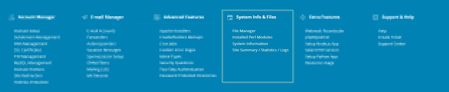 اطلاعات سیستم و فایل ها در دایرکت ادمین