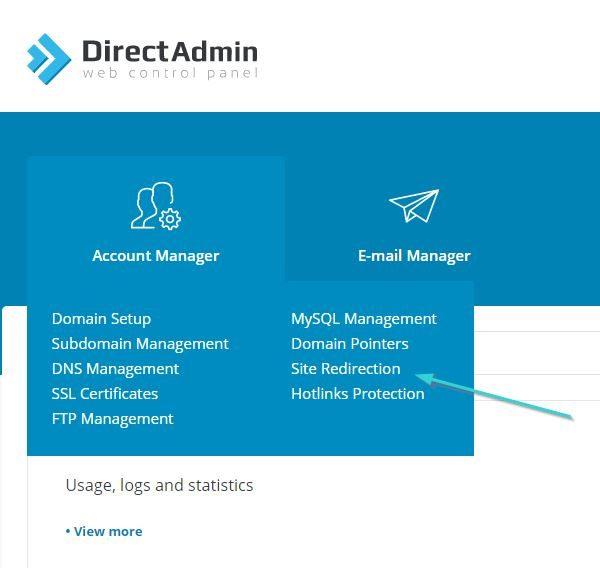 بخش Account Manager  در دایرکت ادمین