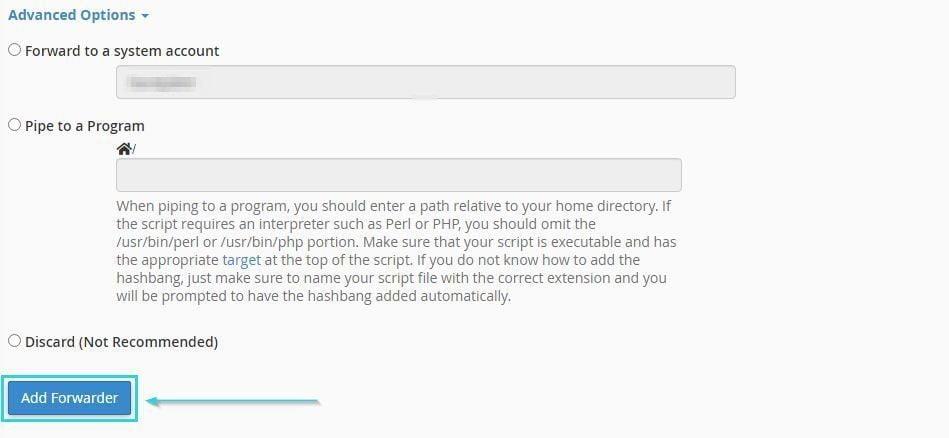 انجام تنظیمات پیشرفته برای انتقال ایمیل در سی پنل