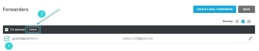 حذف ایمیلهای فوروارد شده