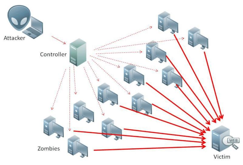 تشریج حملات DDOS در تصویر
