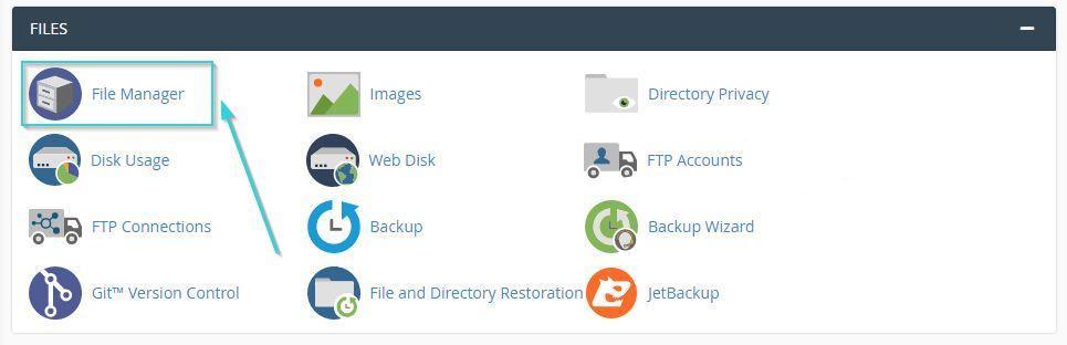 انتخاب File Manager