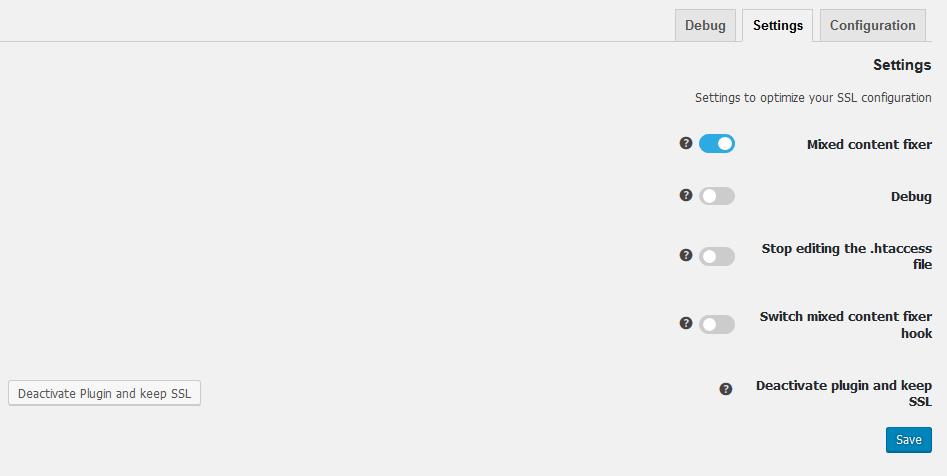 آموزش کار با تنظیمات در افزونه Really Simple SSL