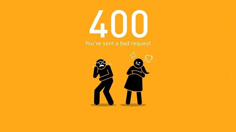آموزش رفع خطای 400 Bad Request