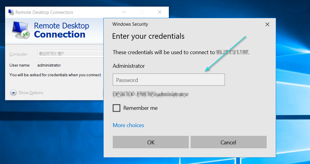 اتصال به سرور مجازی در ویندوز