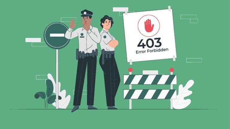 نحوه رفع خطای 403 توسط کاربر