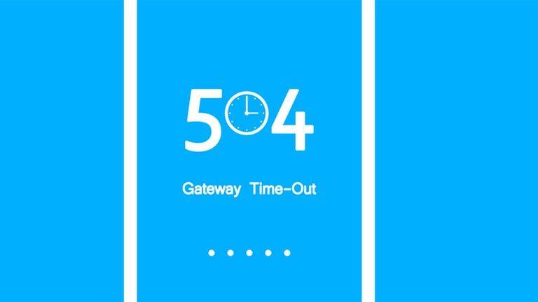 آموزش رفع ارور 504 Gateway Timeout