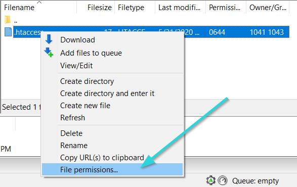 تغییر سطح دسترسی در فایلزیلا