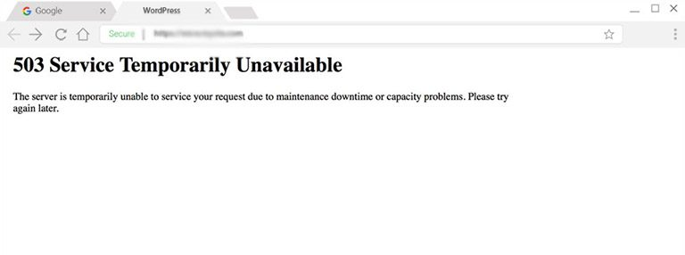 خطای HTTP 503