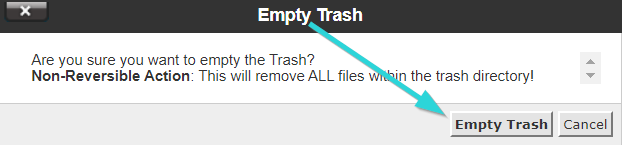 خالی کردن سطل زباله سی پنل