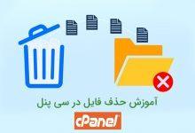 تصویر از آموزش حذف فایل در سی پنل