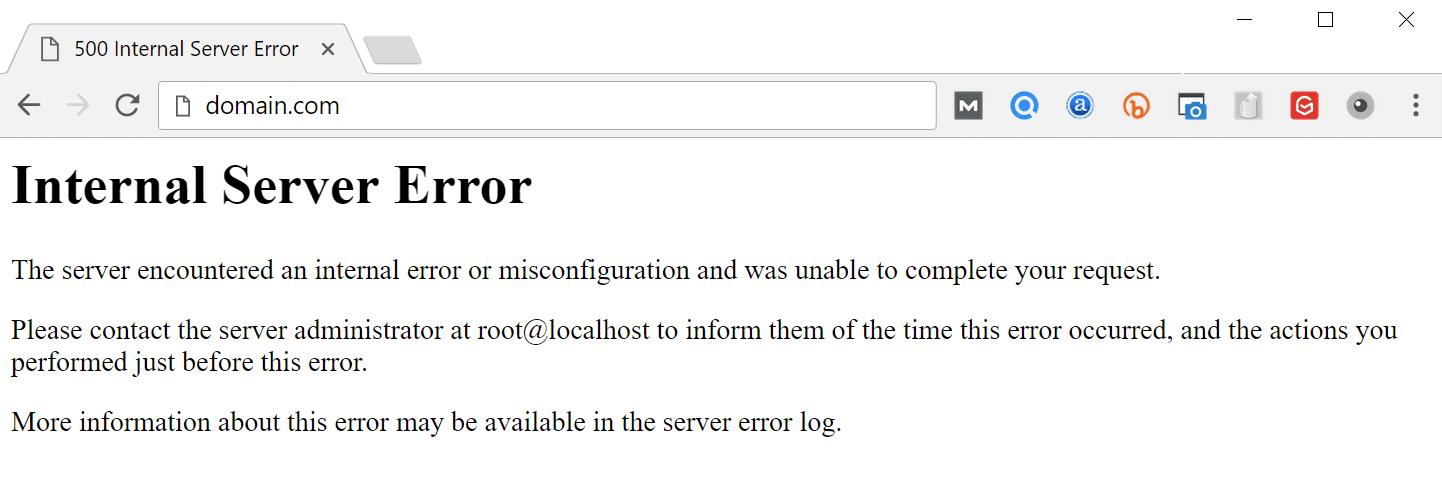 نحوه نمایش خطای http error 500