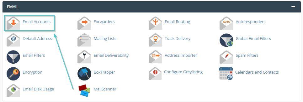 مراحل تغییر رمز ایمیل در سی پنل